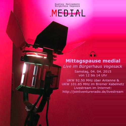 Mittagspause medial 04. 04. 2015